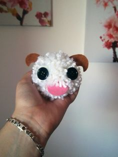 Mini Poro plush  League of Legends phone hanger toy by linkitty, €6.00