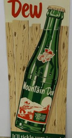 Vending Machines, Mountain Dew, Emboss, Advertising, Self, Auction, Signs, Antiques, Frame