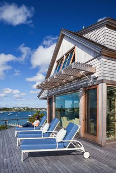 New England style beach cottage overlooking Katama Bay