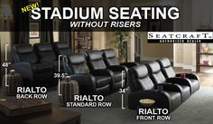 Seatcraft Rialto Home Theater Seating - Leading Online Retailer of Home Theater Seats - Order your home theater seating from TheaterSeat.com...