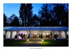 Wedding marquee at Le Petit Moulin #gardenwedding #marquee #summerwedding #style