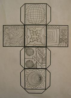 Art Lesson  Gr. 5: Op Art Cube