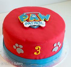 Pawn Patrol fondant cake with logo www.tekila.fi