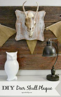 DIY Deer Skull Plaque from MyCreativeDays