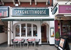 """Spaghetti   House   The first Spaghetti House restaurant to open in London's Fitzrovia in 1955 has reopened after refurbishment. Offering dawn-to-dusk eating seven days a week, it aims to provide """"choice, innovation and value under one roof"""".   spaghettihouse.co.uk"""