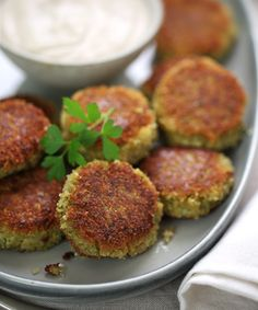 Delicately seasoned falafel (Middle Eastern chickpea fritters) served with creamy tahini sauce. Enjoy in pita bread with crisp salad vegetables, or simply by themselves as a delightful appetizer. Red Lentil Recipes, Veggie Recipes, Indian Food Recipes, Vegetarian Recipes, Cooking Recipes, Healthy Recipes, Recipes With Tahini, Pita Recipes, Healthy Eats