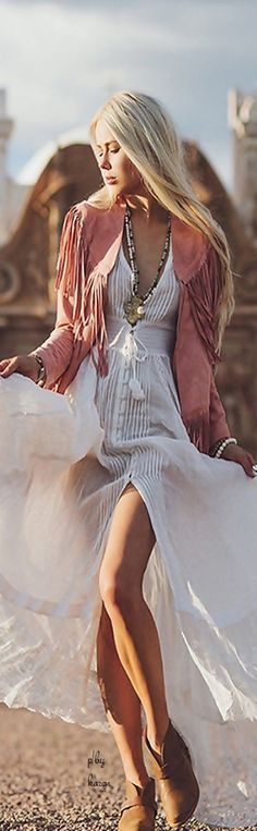 in love with this beautiful boho maxi dress