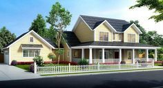 Plan 52285WM: Budget Friendly 4 Bed Country Farmhouse Plan