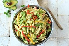 main entree pasta recipe : Avocado Dijon Pasta Salad