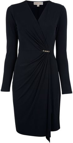 There is nothing like the classic wrap dress in navy blue. LOVE IT! - ANN #ANNJANEcomingsoon