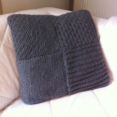 Knitted cushion.