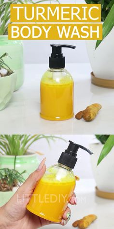 Turmeric body wash - littlediy Turmeric is a great skin healing, cleansing and brightening ingredient! It is found in so many beauty recipes, both homemade and commercial. If you are looking out for ways to use turmeric for body cl Beauty Tips For Glowing Skin, Beauty Tips For Face, Natural Beauty Tips, Beauty Skin, Natural Skin Care, Health And Beauty, Face Tips, Healthy Beauty, Beauty Advice