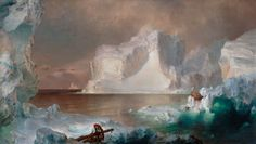 The Icebergs Painting by Frederic Edwin Church (1861) #dailyart