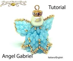 Angel Gabriel  PDF Beading tutorial  in by RosinaOttoliniBeads