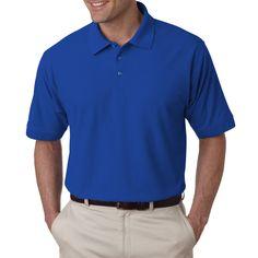 Tall Whisper Men's Royal Pique Polo Shirt