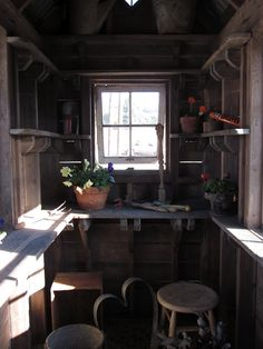 From the home front: Bob Bowling Rustics' tiny sheds; barn converted to small ho. From the home fr Tiny House Swoon, Best Tiny House, Metal Building Homes, Building A House, Bowling, Rustic Shed, Garden Nook, Garden Studio, Garden Chairs