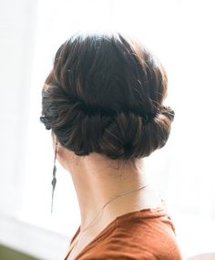 Easy, quick, elegant hair.  Perfect for snooze-button mornings.