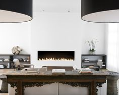 Modern Spaces Gas Fireplace Design, Pictures, Remodel, Decor and Ideas