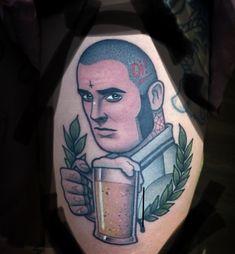 Skinhead Tattoos, Tattoo Ideas, Tattoo Designs, Skinhead Fashion, Body Art Tattoos, Stencils, Punk, Moon, Drawings