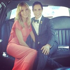 Heidi Klum and Zac Posen on their way to the Emmys