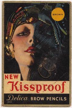 New kissproof Delica Brow Pencils. #vintage #1920s #makeup #cosmetics #flappers