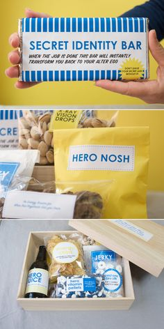 DIY Super Hero Father's Day Gift + Printable Labels