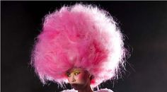 Cotton candy pink hairstyle