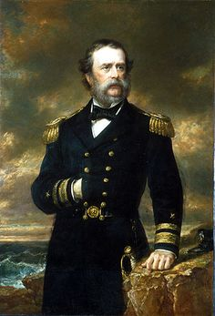 Rear Admiral Samuel Francis Dupont by Daniel Huntington Oil on canvas, National Portrait Gallery, Smithsonian Institution Mexican American War, American Civil War, Rear Admiral, Port Royal, Naval Academy, Spanish Armada, National Portrait Gallery, American Artists, Art History