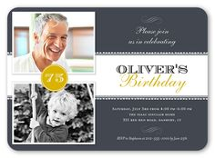 Now And Then 5x7 Invitation Card | Birthday Party Invitations | Shutterfly