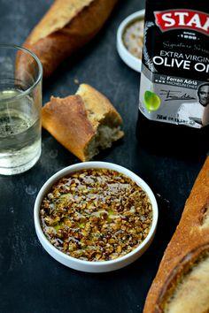 Toasted Garlic Olive Oil Bread Dip #STARFineFoods