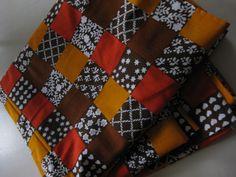 """Vintage Finnish Tampella fabric """"Tikkutyö"""""""