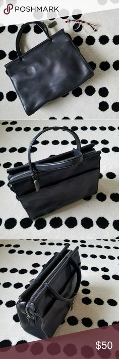 Coach Vintage Black Whitney Handbag #9185 black Really beautiful vintage black coach top handle bag.  Great condition with some wear to handles and minor scratches. Clean interior with a zipper pocket. Zipper closure. Coach Bags