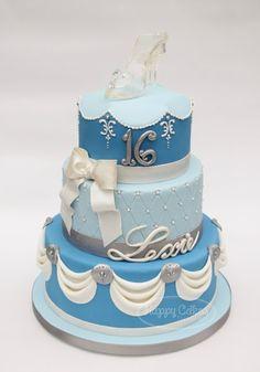 Cinderella Sweet 16 Birthday Cake!