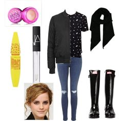 Untitled #128 by fashionxstuff on Polyvore featuring polyvore fashion style Topshop Hunter Moncler Benefit NARS Cosmetics Maybelline Emma Watson