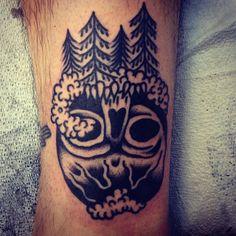 Ryan Bonsall as featured on Swallows & Daggers. www.swallowsndaggers.com #tattoo #tattoos #skull