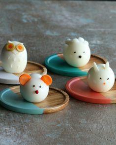 Gekochte Eier in Tierform auf 4 Arten | Diese gekochten Eier in Tierform sind ja wohl der süßeste Snack überhaupt