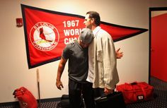 Jon hugging it out with Matheny.