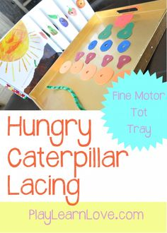 hungry caterpillar lacing | play learn love