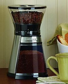 Grind your coffee beans in professional style to ensure bold, delicious coffee every time with the Cuisinart Programmable Conical Burr Grinder that's sure to become a kitchen essential.
