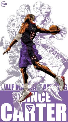 Vince Carter Career Montage Illustration