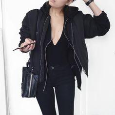 Sport Outfit Casual All Black 52 Ideas For 2019 Street Style Outfits, Mode Outfits, Casual Outfits, Fashion Outfits, Womens Fashion, Teen Outfits, Woman Outfits, Looks Dark, Estilo Rock
