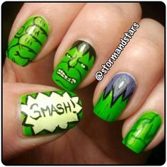 stormandstars hulk #nail #nails #nailart