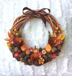 Easy Christmas Decorations, Easter Bunny Decorations, Easter Wreaths, Christmas Tree Ornaments, Christmas Wreaths, Easy Fall Crafts, Fall Diy, Thanksgiving Crafts, Holiday Crafts