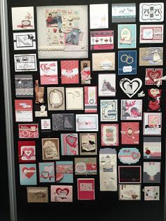 The Start of Sharing Convention Display Boards - 3rd row from the bottom, second from the left...one of my cards!