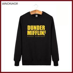 Dunder Mifflin Paper Inc Hoodies Men Hip Hop Cotton Sweatshirts Homme Camisetas Winter O-Neck Tracksuit Brand Clothing Tops