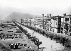 Moll de la Fusta, acabada de'enderrocar la muralla de mar. 186… Barcelona…