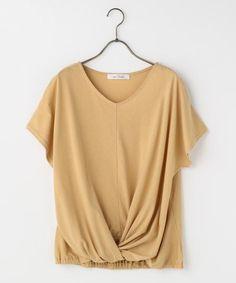 裾ねじりTシャツ(無地/ボーダー) | カットソー・インナー | OUTLET(アウトレット) | Ray Cassin