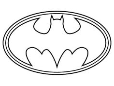 Superhero Coloring Pages Batman Logo