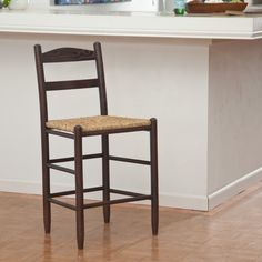 Dixie Seating 24 in. Shaker Style Ladder Back Counter Stool | from hayneedle.com