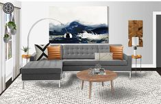 Eclectic, Industrial Living Room by Havenly